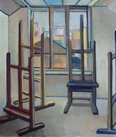 Three easels