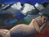 Schlafende mit Berge