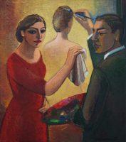 Maler und Malerin (fuer R. Magritte)