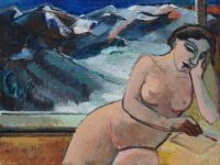 Nude with the mountains