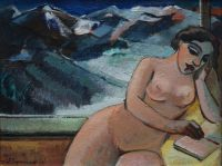 Nude with mountains