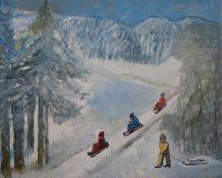On the sledges I